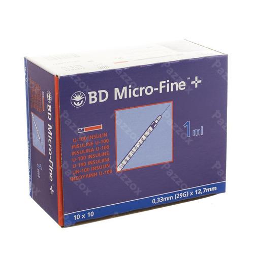 Bd Microfine+ Ser.ins. 1,0ml 29g 12,7mm 100 324827