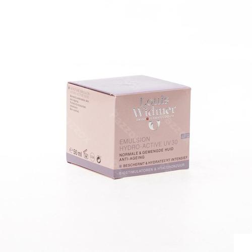 Louis Widmer Emulsion Hydro-active Uv30 Anti-age Dagcreme Zonder Parfum 50ml