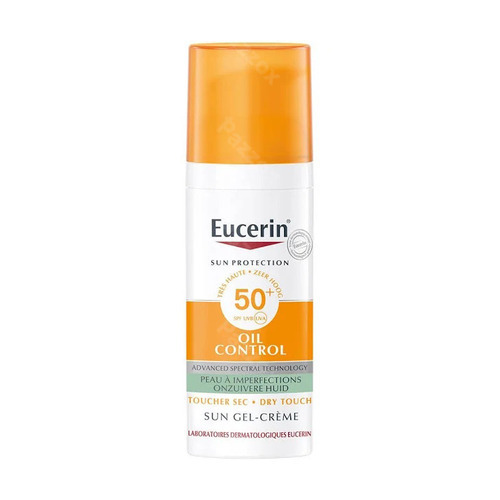 Eucerin Sun Oil Control Spf50+ Onzuivere Huid Dry Touch Zonnegel-crème 50ml