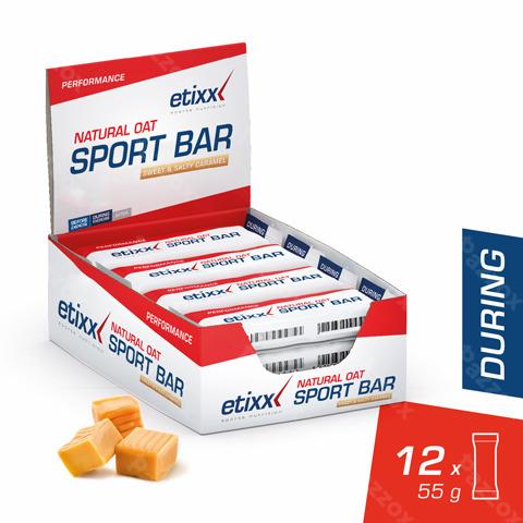 Etixx Natural Oat Bar Sweet&salty Caramel 12x55g