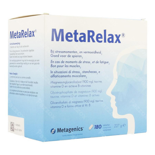Metagenics Metarelax Voedingssupplement Stress En Vermoeidheid 180 Tabletten