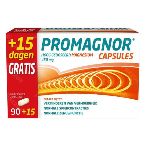Promagnor: Hoog Gedoseerd Magnesium 450mg (90+15 Capsules)