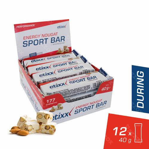 Etixx Energy Sport Bar Nougat 12x40g