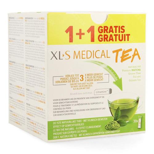 Xls Medical Tea 30 Zakjes 1+1 Gratis Promo