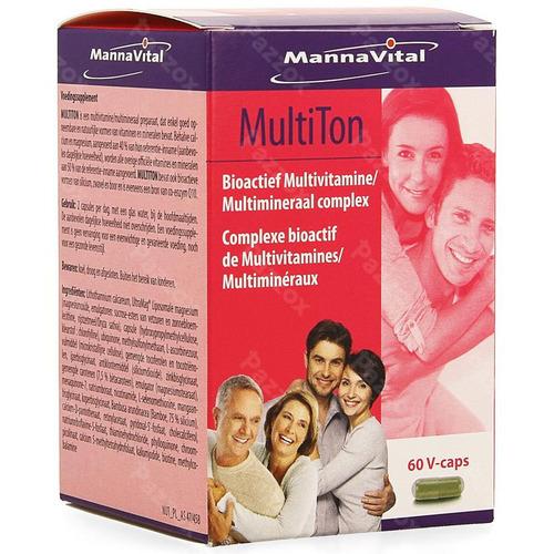 Mannavital Multiton V-caps 60