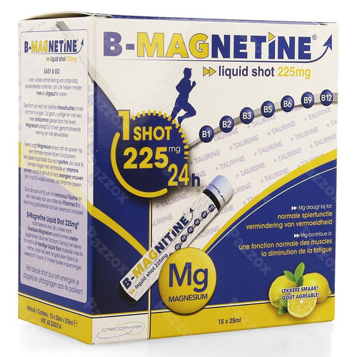B-magnetine Liquid Shot 225mg 15x25ml Credophar