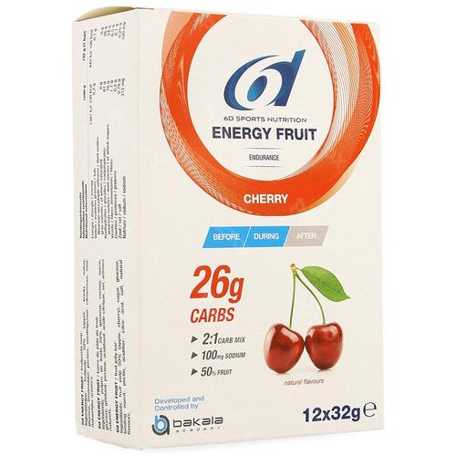 6d Sports Nutrition Energy Fruit Cherry 12x32g