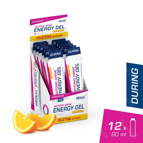 Etixx Isotonic Drink Energy Gel Orange 12x60ml