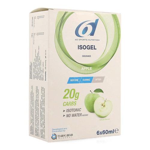 6d Sports Nutrition Isogel Appel 6x60ml